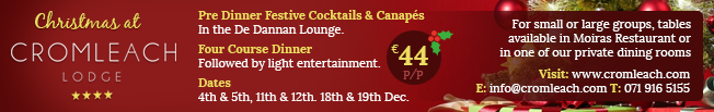 Christmas Parties at Cromleach Lodge
