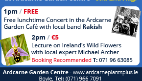 Boyle Arts Week Events at Ardcarne Garden Centre