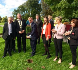 Turning the sod on the cycleway