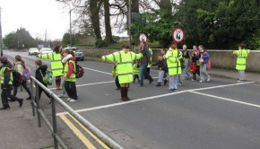 crossing with road with the team of school wardens