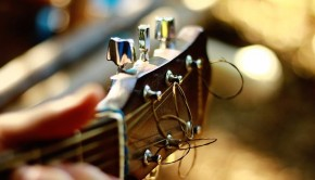 Acoustic Guitar Blurry Bokeh Capstan Blur Chrome
