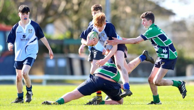 Adam O'Connor tackled by Liam McEvoy and Tadhg Ruane 22/3/2017