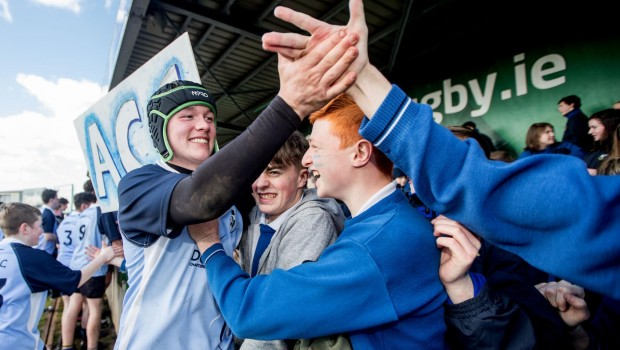 Ethan Beirne celebrates with fans 22/3/2017
