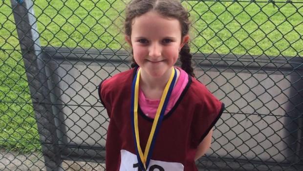 Emma Caslin Bronze Medal U8 80m