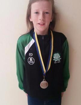 Emma Duggan Silver Medal U10 60m Hurdles