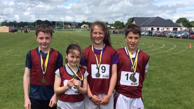 U13 Mixed Relay won silver Mark Halligan, Clare O'Gara, Caoimhe Cregg & DanielCasey.