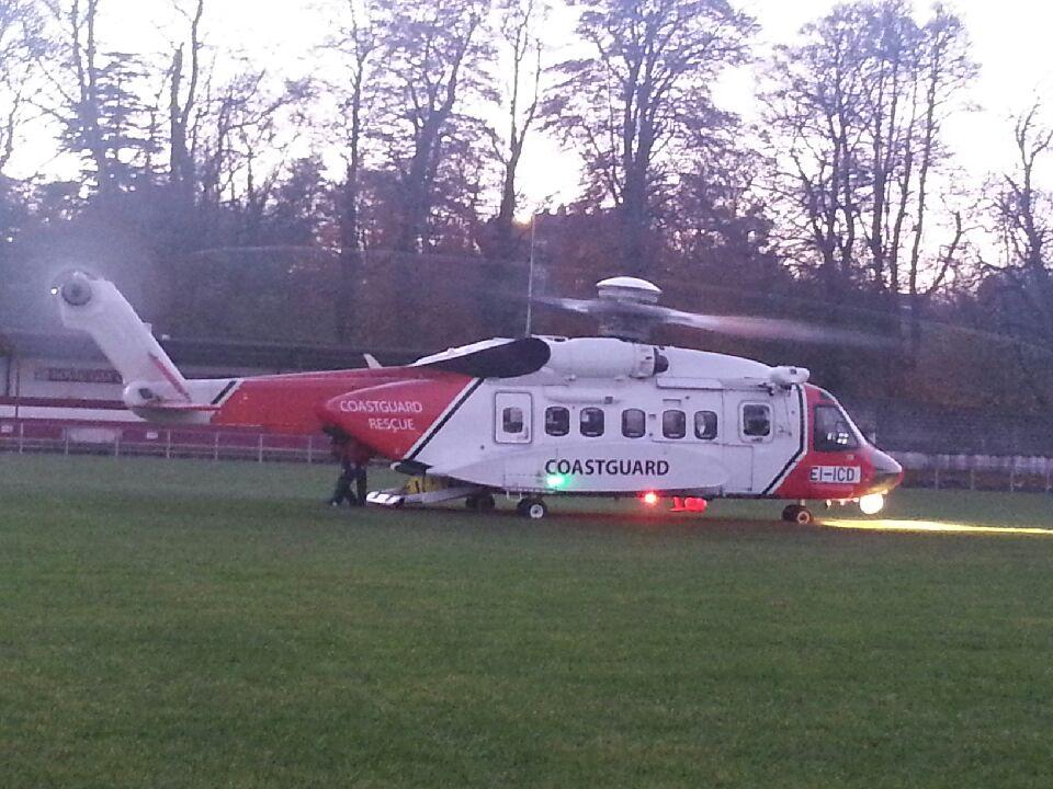 Photo of Rescue 118 over Boyle