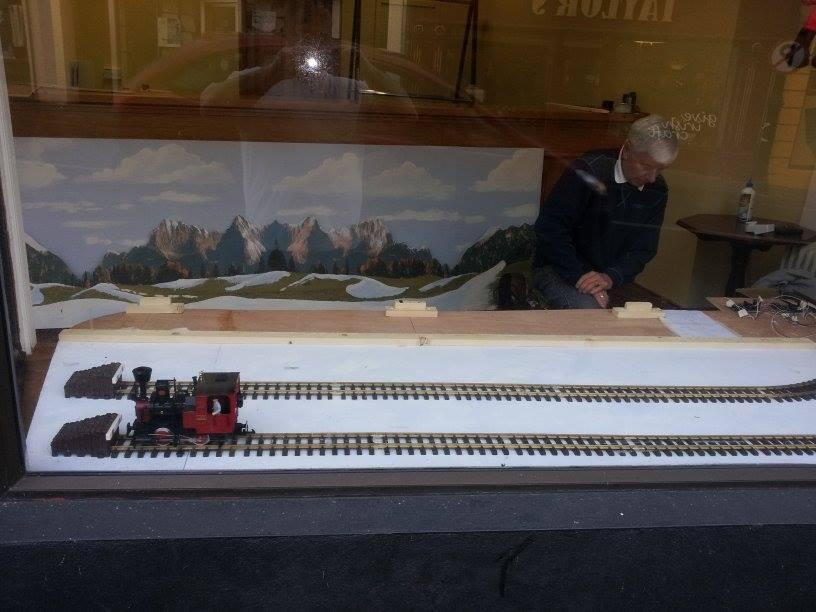 Photo of New Model Railway window display