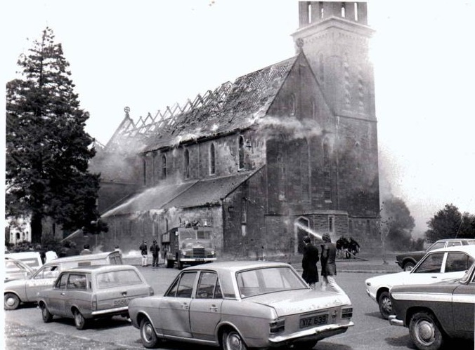 Photo of St. Josephs Church Fire