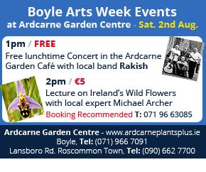 Boyle Arts Week Events at Ardcarne Garden Centre