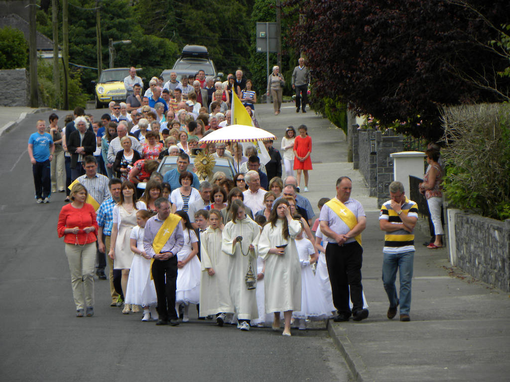 Photo of Corpus Christi procession Sunday