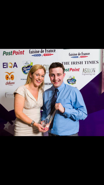 Photo of Boyle's Joe wins manager award