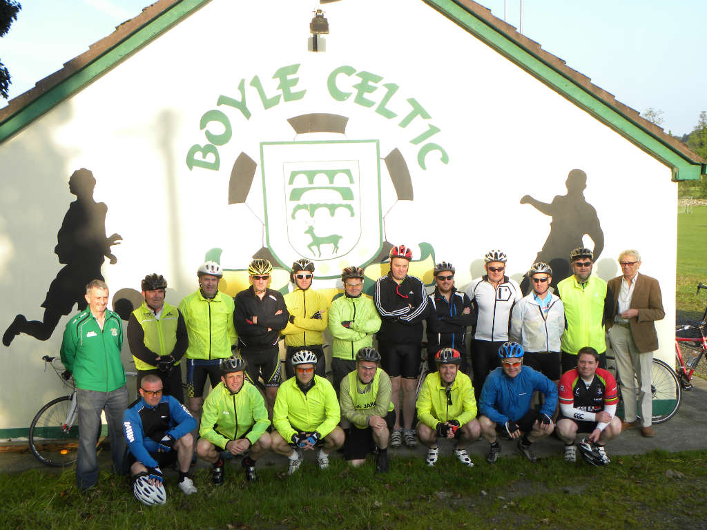 Photo of Celtic cyclists head for the Reek