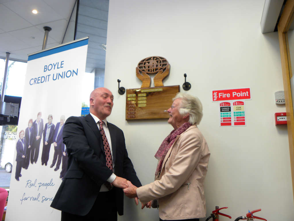 Photo of Plaque unveiled in Credit Union