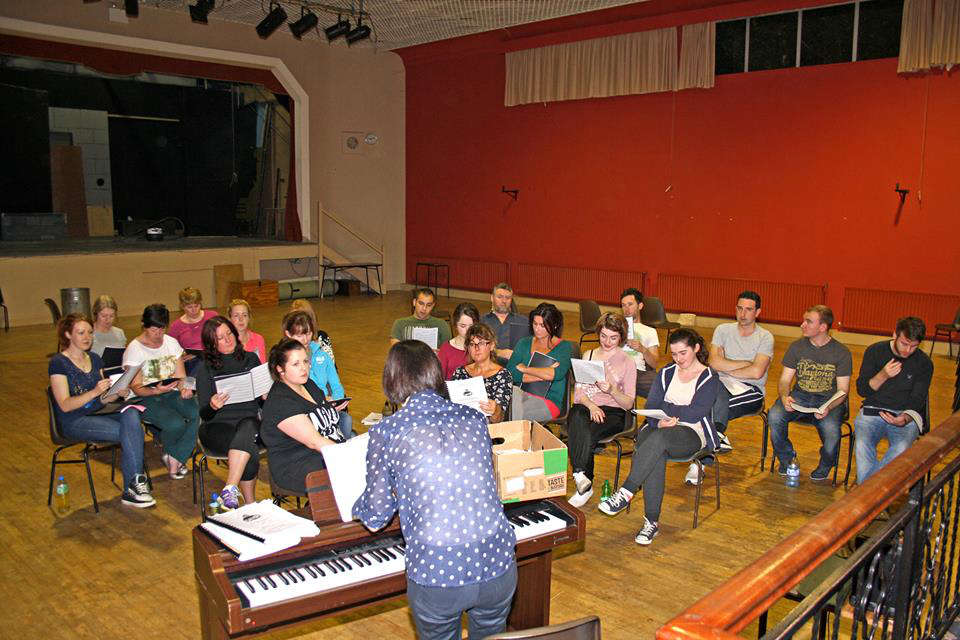 Photo of Grease rehearsals at advanced stage