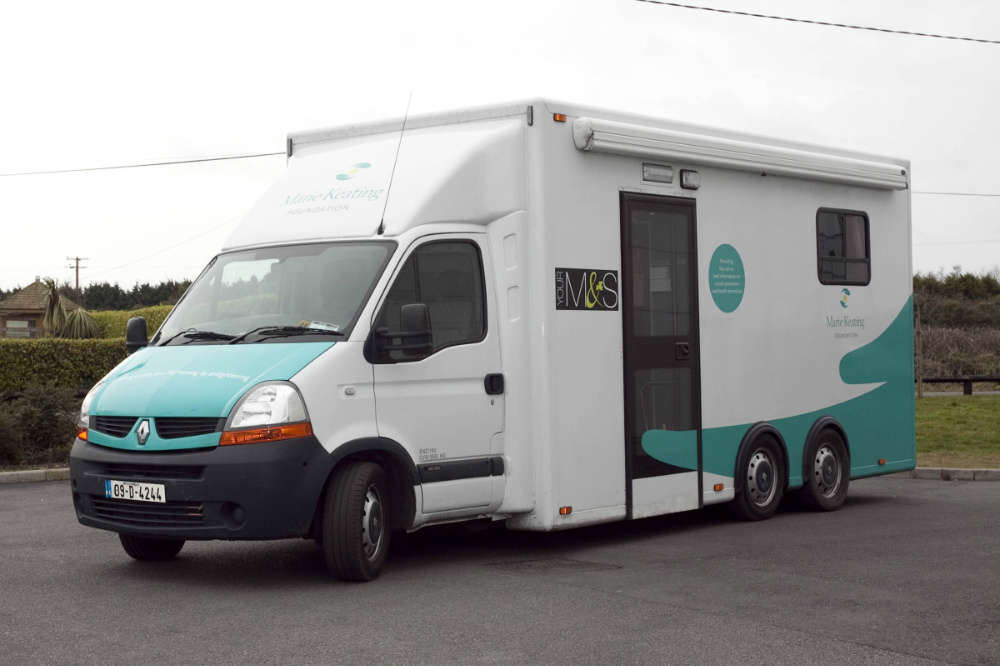 Photo of Marie Keating mobile unit in Boyle