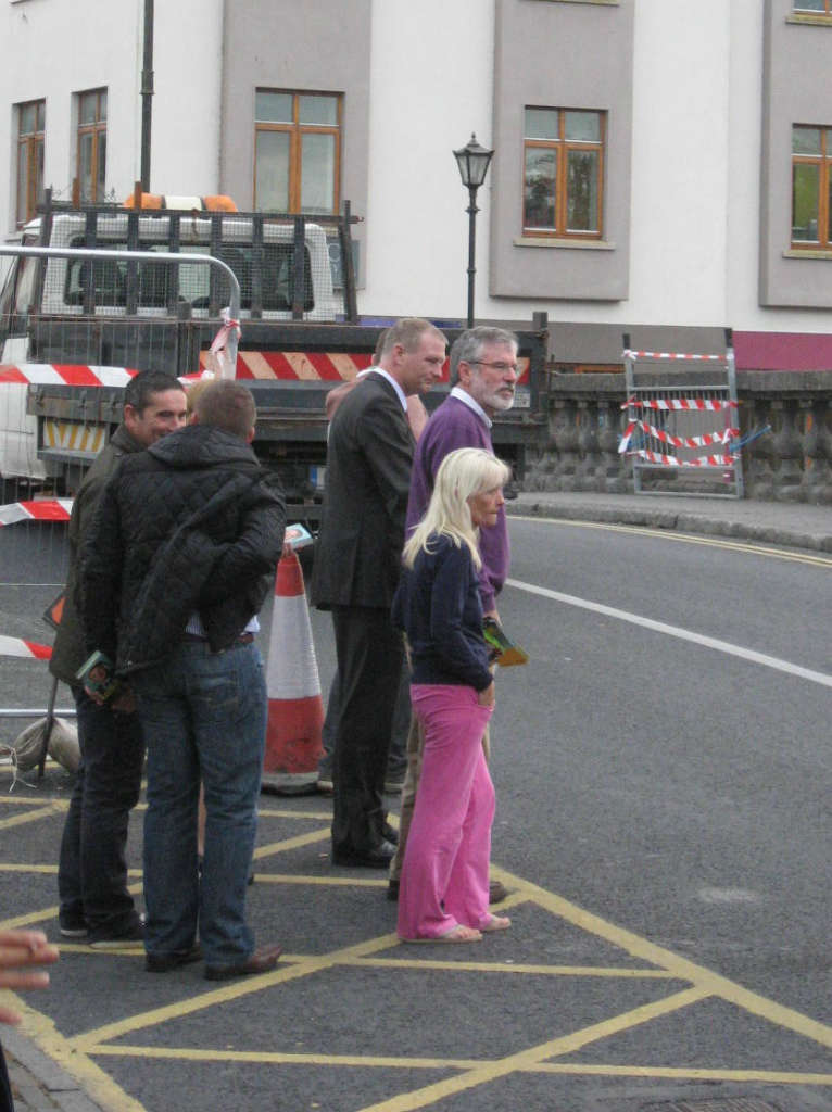 Photo of Gerry Adams in Boyle Monday