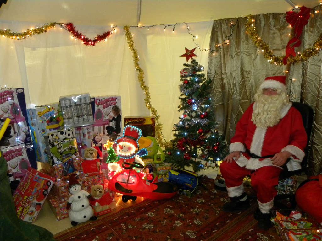 Photo of Santa in Supervalu Saturday