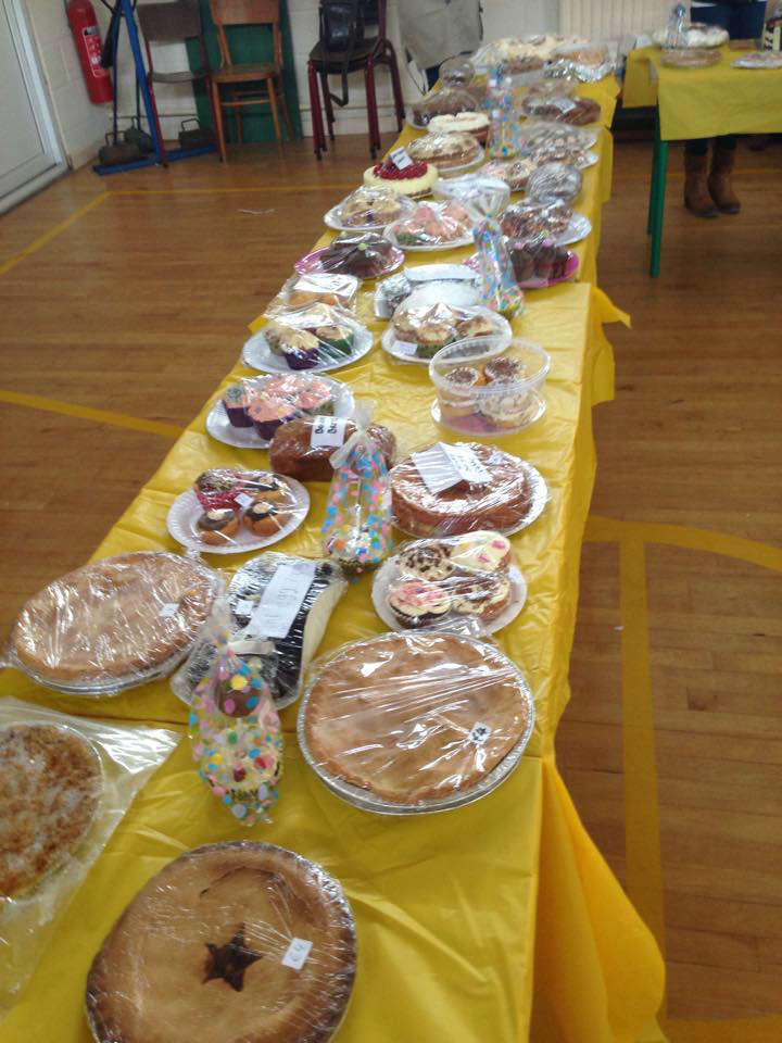 Photo of Two cakes sales in the area on Friday