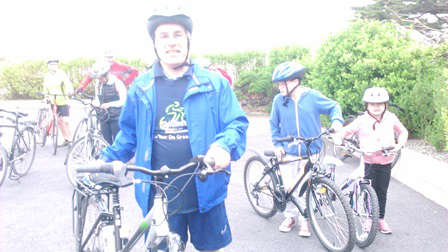 Photo of Michael takes part in sponsored cycle