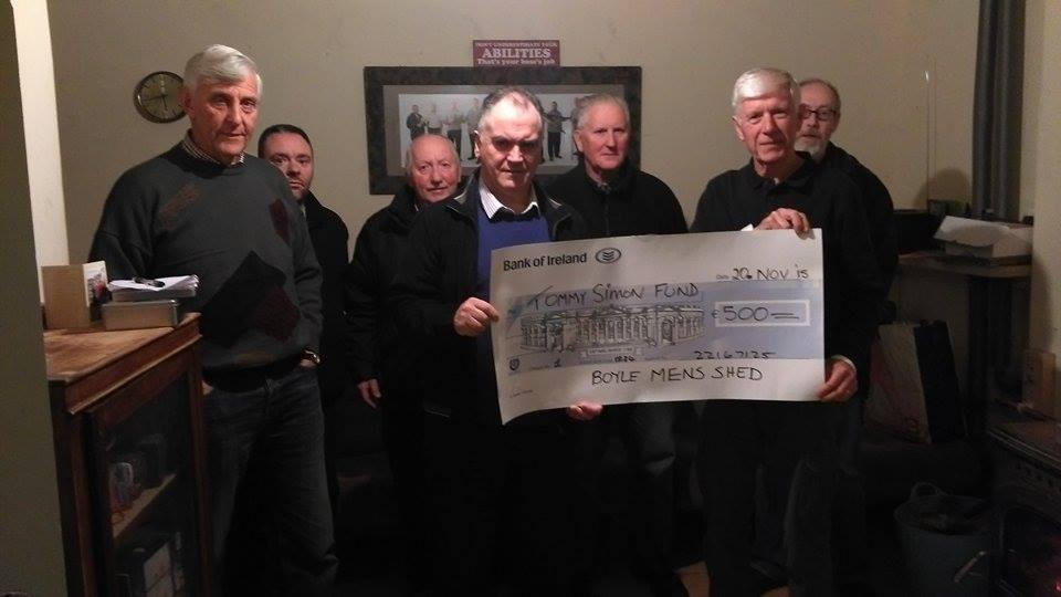 Photo of Boyle Mens Shed present cheque