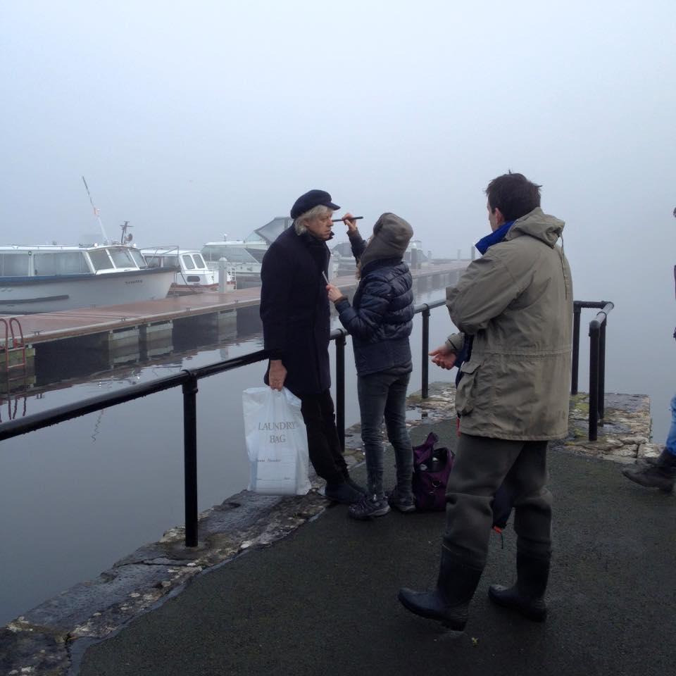 Photo of Bob Geldof filming in Boyle