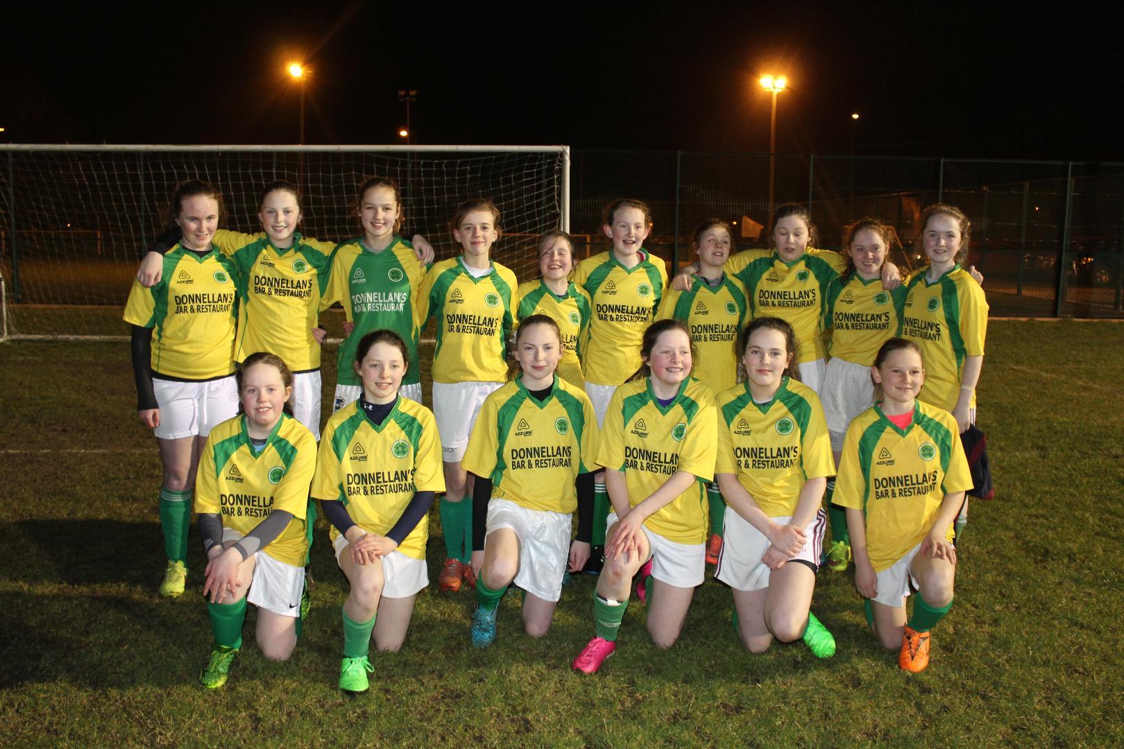 Photo of Boyle U14 girls in action Monday