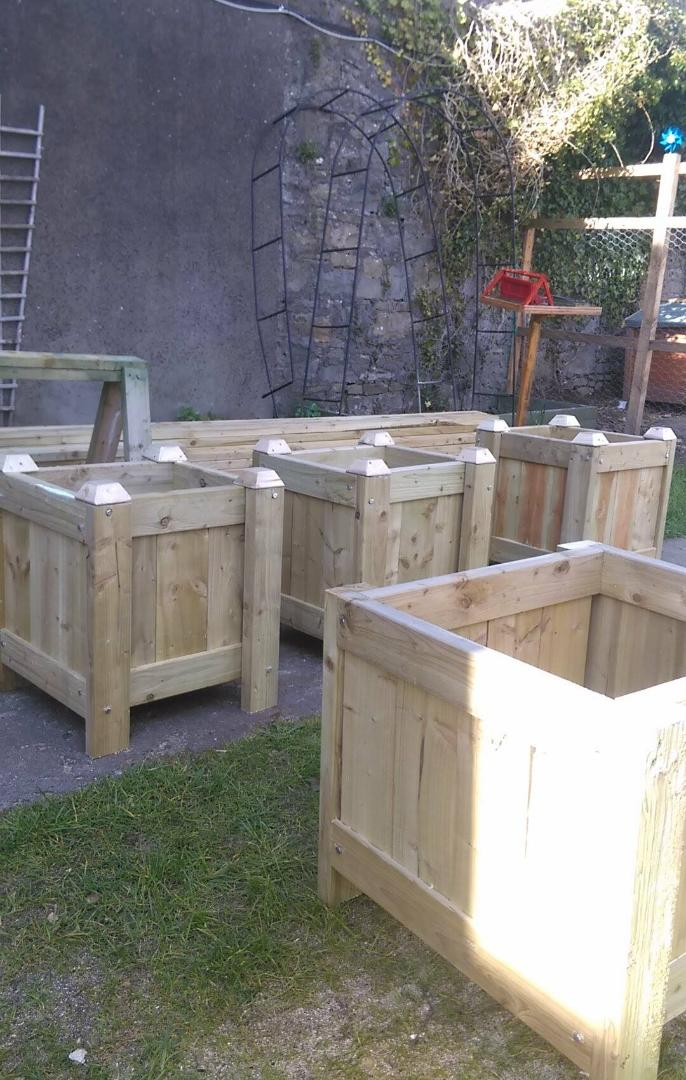 Photo of Mens Shed donate flower planters