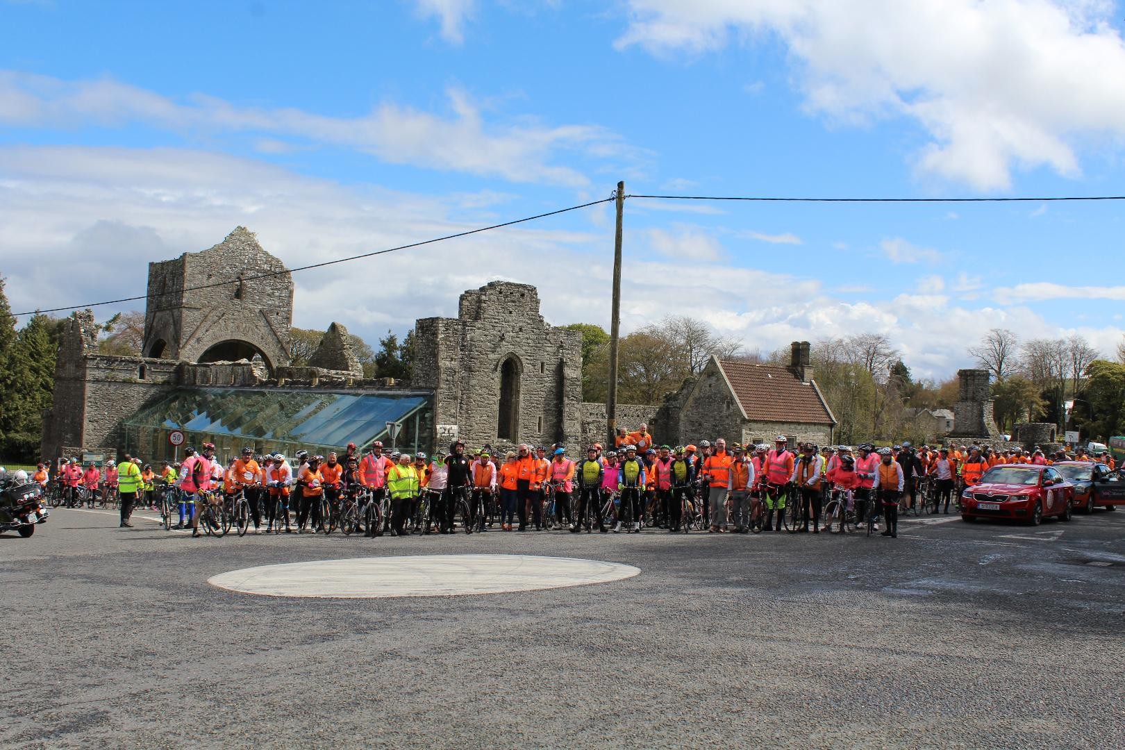 Photo of Cycle Against Suicide visits Boyle