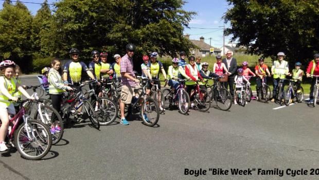 Photo of Bike week family cycle in Boyle