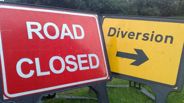 Photo of Further N61 road closure from today