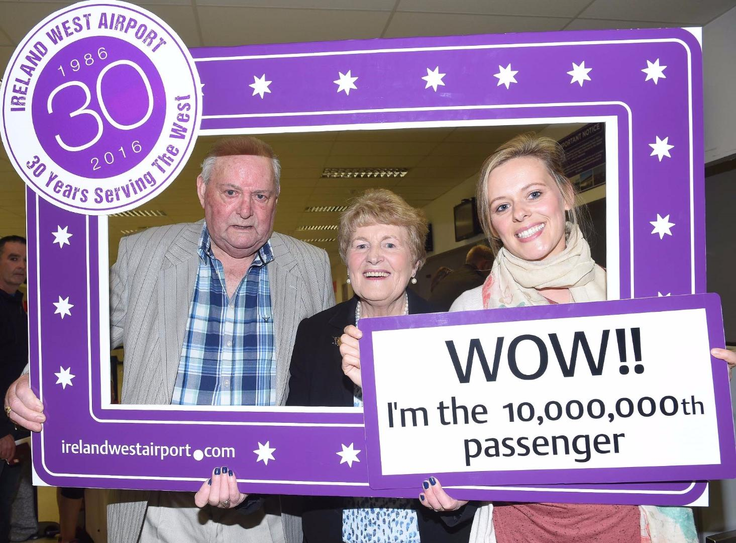Photo of Lorna is 10 millionth passenger