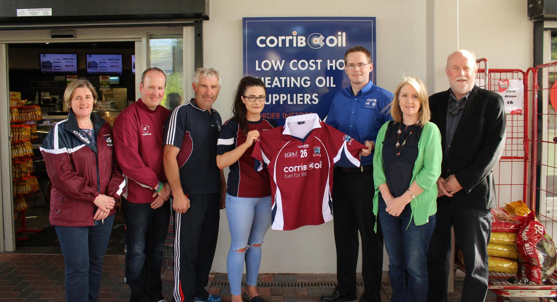 Photo of Corrib Oil sponsor ladies team