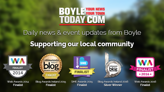 Photo of Boyle websites in awards tonight
