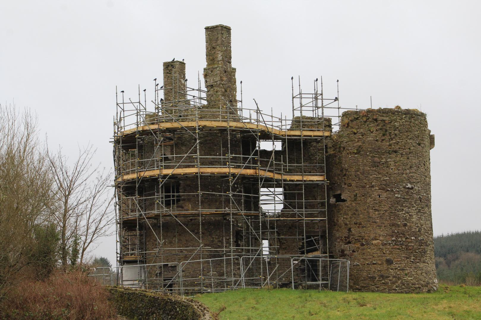 Photo of Work underway at Ballinafad Castle