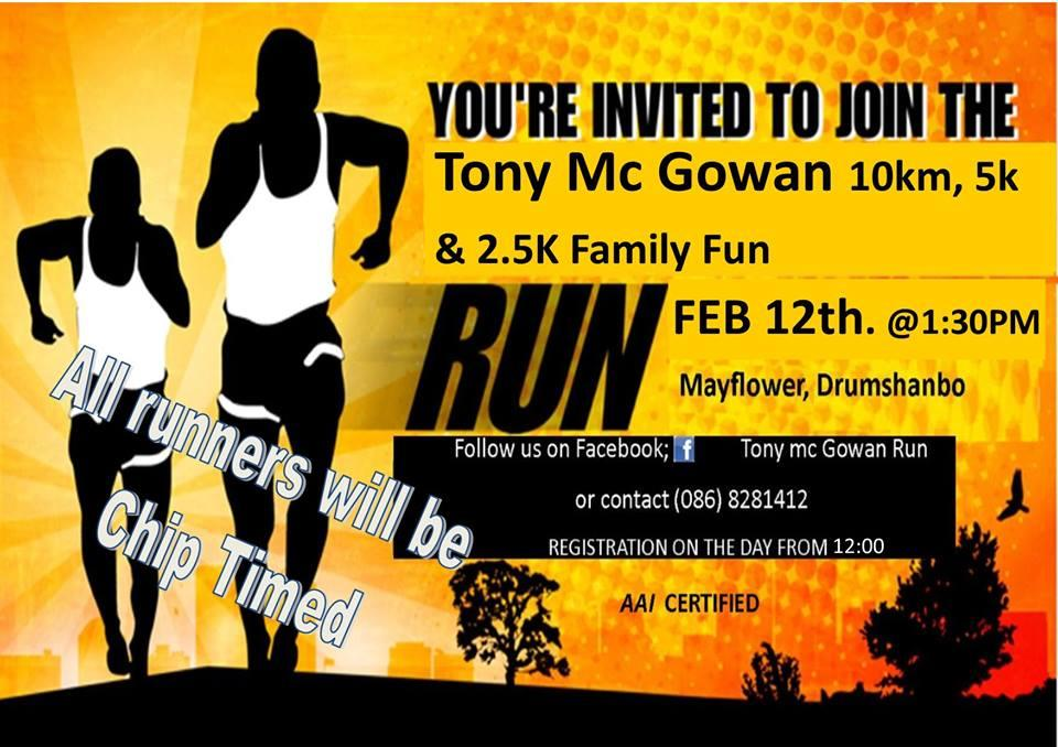 Photo of Tony McGowan run this Sunday