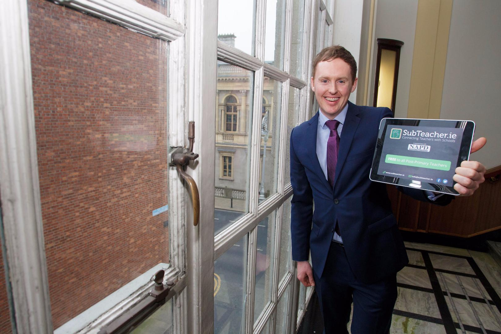 Photo of Kyle at IBYE unveiling in Dublin
