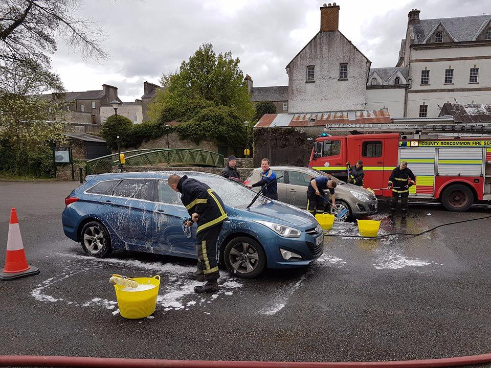 Photo of €703 raised by Fire Service car wash