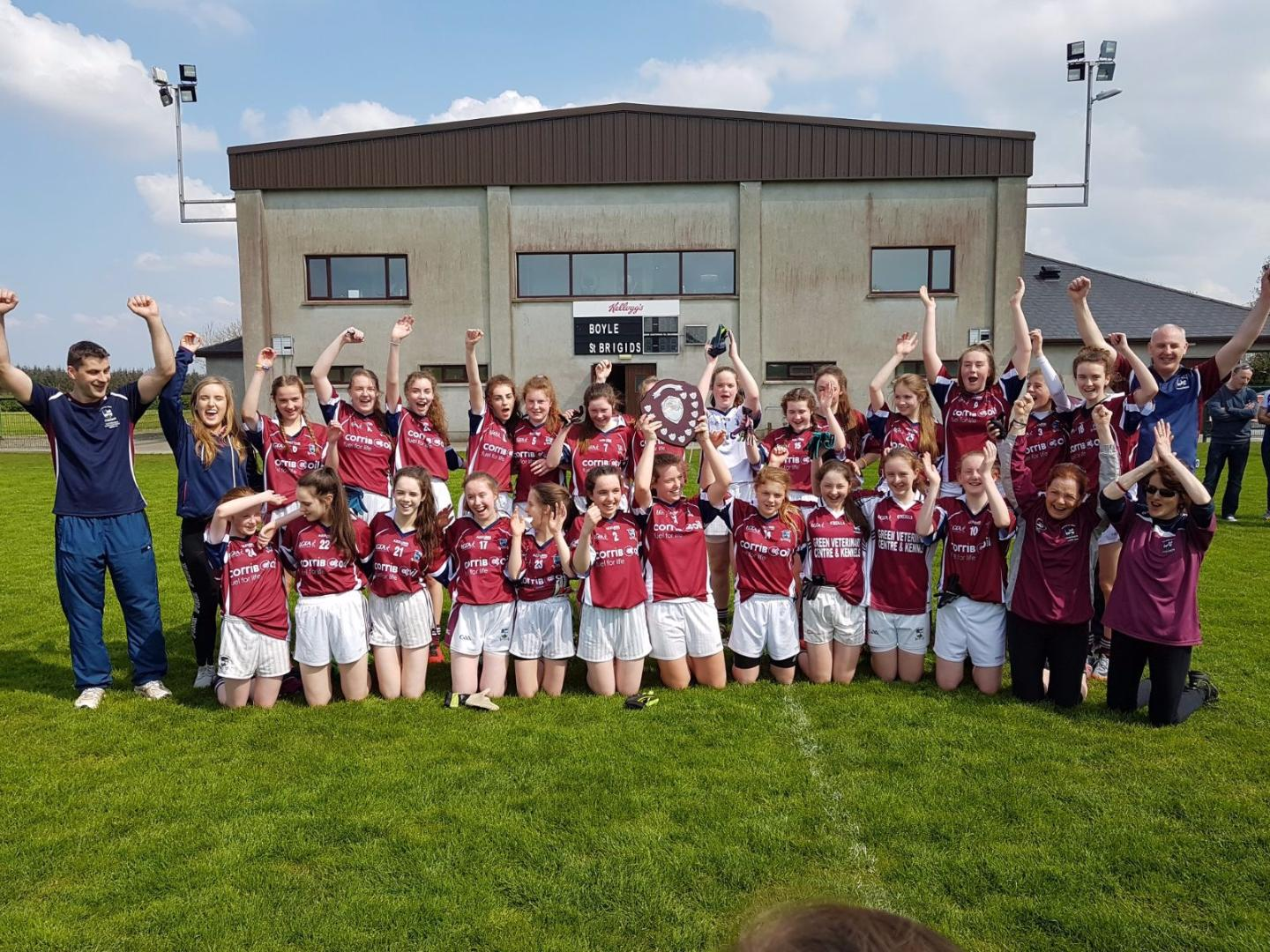 Photo of Boyle girls crowned county champions