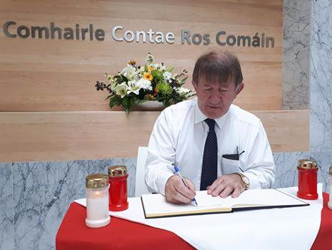 Photo of Book of Condolence opens in County