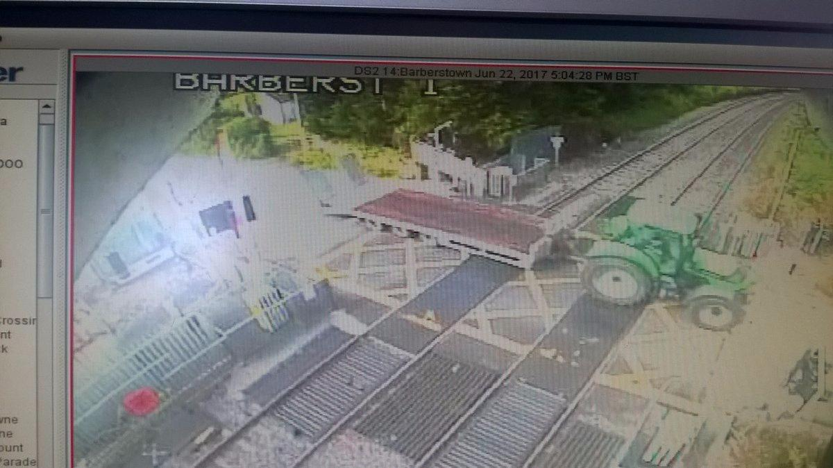 Photo of Tractor crash results in rail delay
