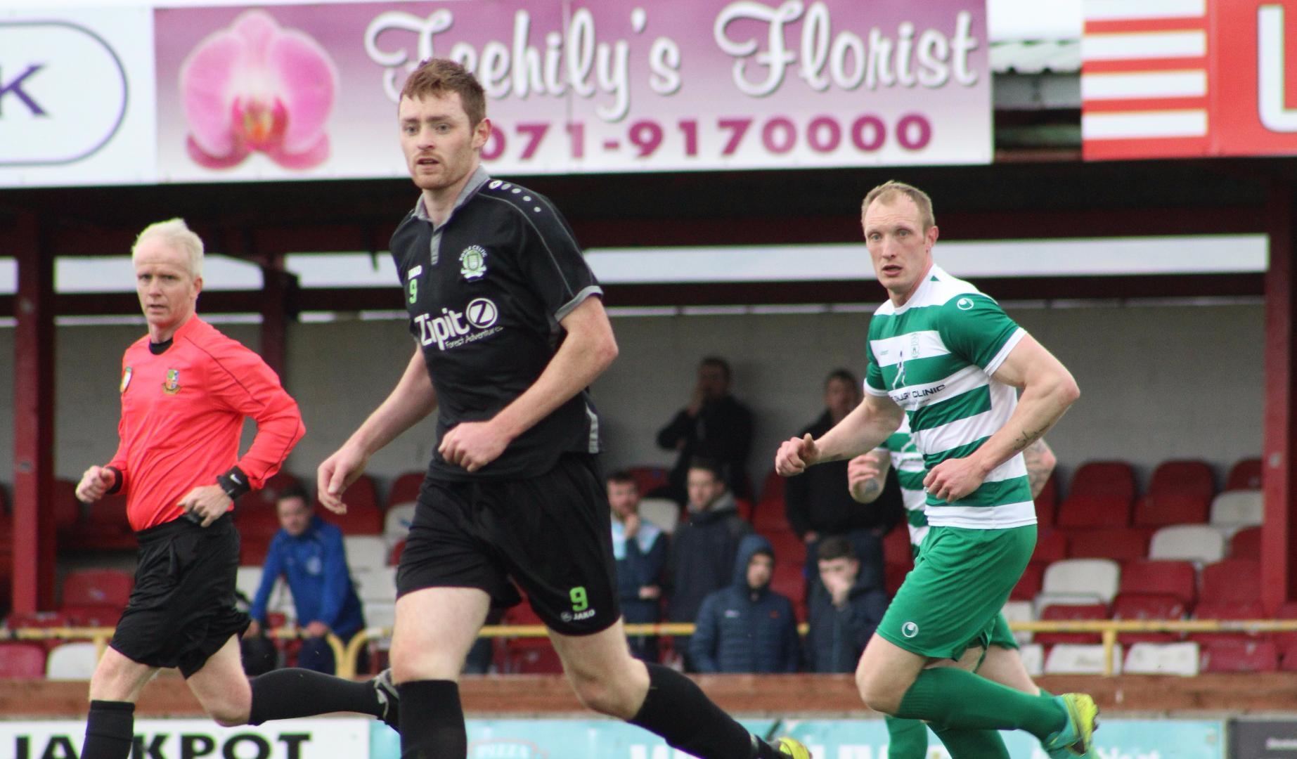 Photo of Niall signs for Ballinamallard FC