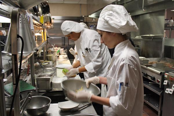 Photo of Boyle chef tutors on hospitality course
