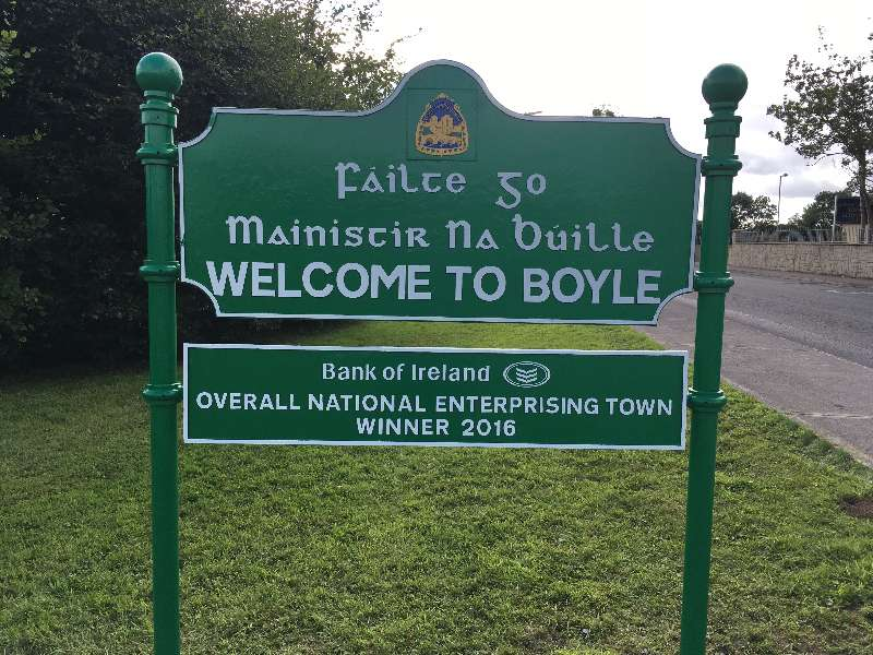 Photo of New road side signs for Boyle