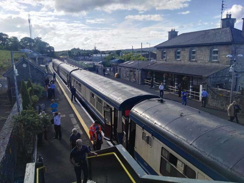 Photo of Diesel train visits Boyle on Saturday