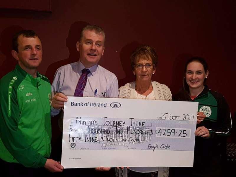 Photo of Celtic raise €4259 for Niamh's Journey