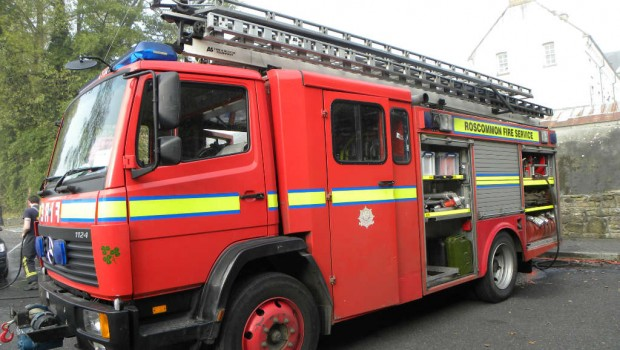 Photo of Boyle Fire Service attend house fire