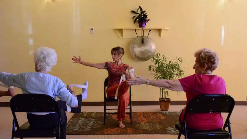 Photo of Chair yoga commences in Boyle