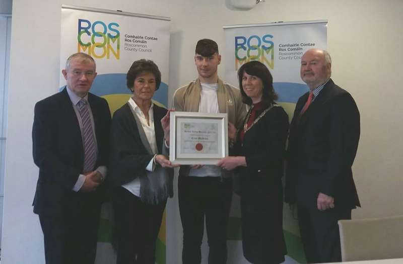 Photo of Earley bursary for Boyle's Cian McKeon