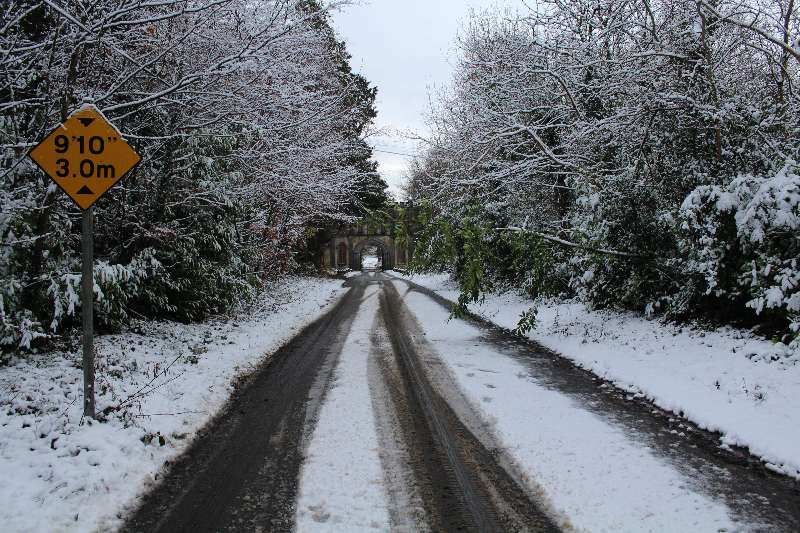 Photo of Sunday morning snow in Boyle